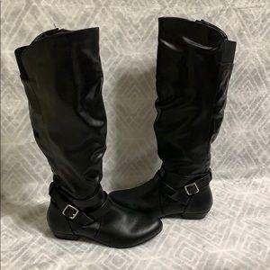 Fergalicious black boots
